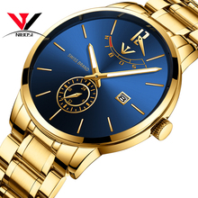 NIBOSI Gold Watch Men Luxury Brand 2019 Fashion Quartz Wristwatch Waterproof Casual Male Clock Stainless Steel Relogio Masculino chenxi brand fashion luxury watch men casual stainless steel gold gift clock quartz male wristwatch relogios masculinos famosas
