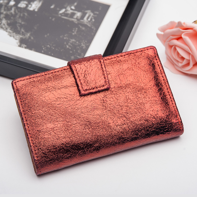 CICICUFF Bright Genuine Leather Women Wallets Retro Cluthes