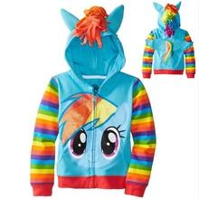 girls Children Hoodies Baby little pony Clothing Girls Spring Autumn Jacket Coat Kids Casual hood Outerwear 10yr