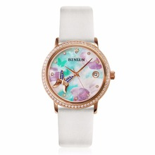 BINLUN Rose Gold Ladies Automatic Luxury Dress Watch for Women Waterproof Spring Summer Autumn Winter at All Reasons Dial