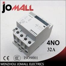 4p 32a 220v/230v 50/60hz din rail ac контактор для дома 4no