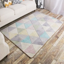 YOOSA Quality Colorful Geometric Polyester Rectangle Carpet Rugs For Living Room Bedroom Nordic Japan Style Water Absorption Rug yoosa белый