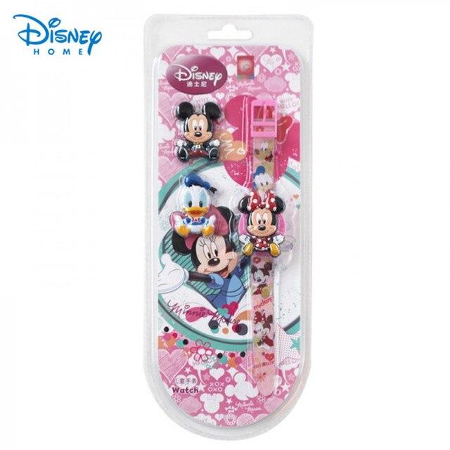 100% Genuine Disney Minnie Watch Cartoon children Brand Watches 3 type cover for change 89004-02
