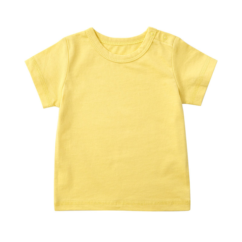 0 2 Years Old Summer Short Sleeve T Shirt New Newborn Boys And Girls Round Collar Thin Render Unlined Upper Garment in T Shirts from Mother Kids