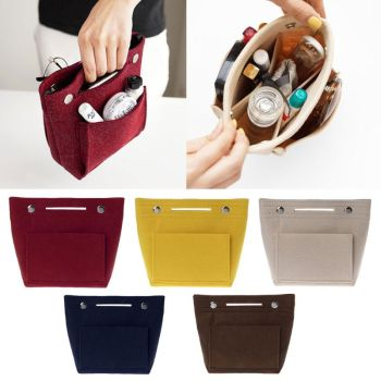 Foldable Purse Organizer and Insert Bag for Women Makes Easier to Change Bags