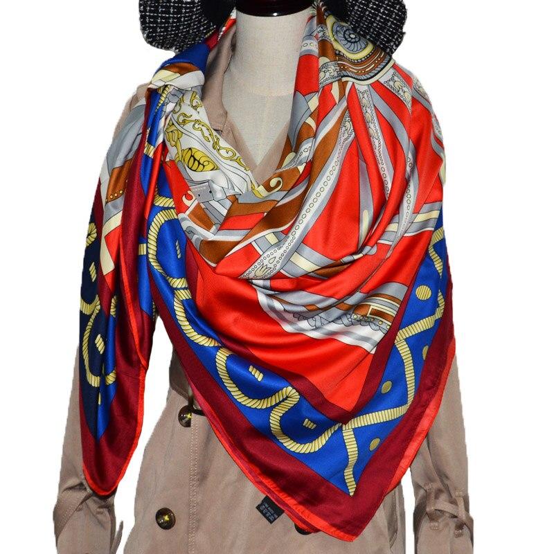 Il marchio estivo di seta sciarpa di seta per donna 2019 NUOVA DI MARCA A Sciarpe