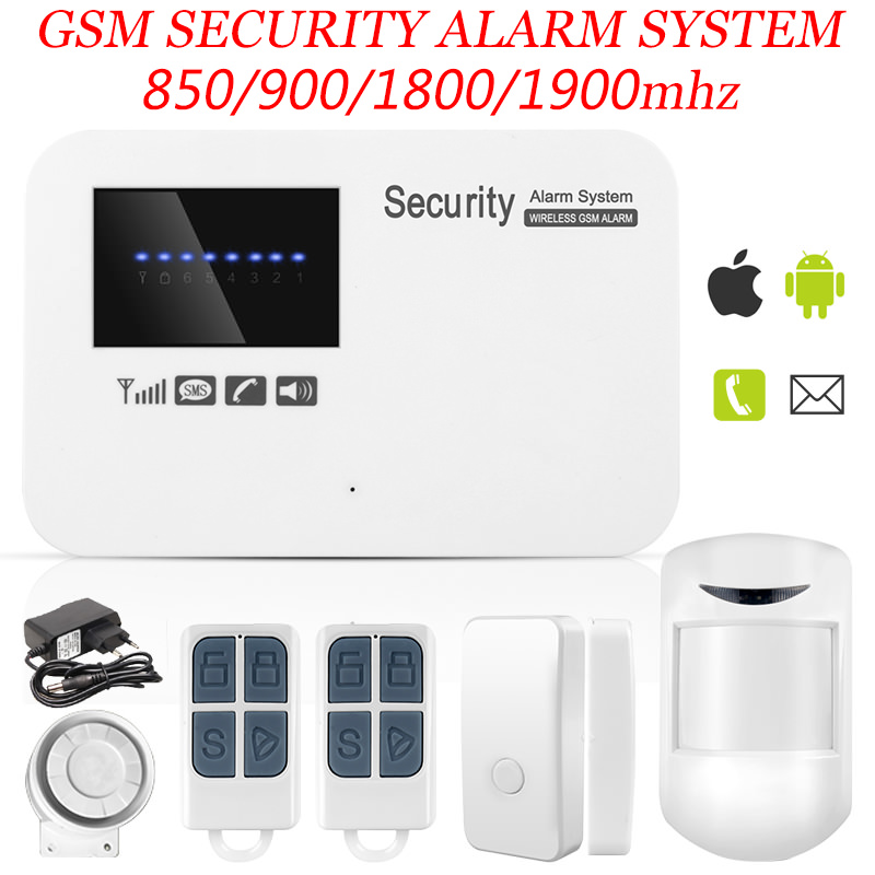 free shipping IOS & android APP control Intercom wireless GSM alarm system security home kit with relay free shipping ios android app control