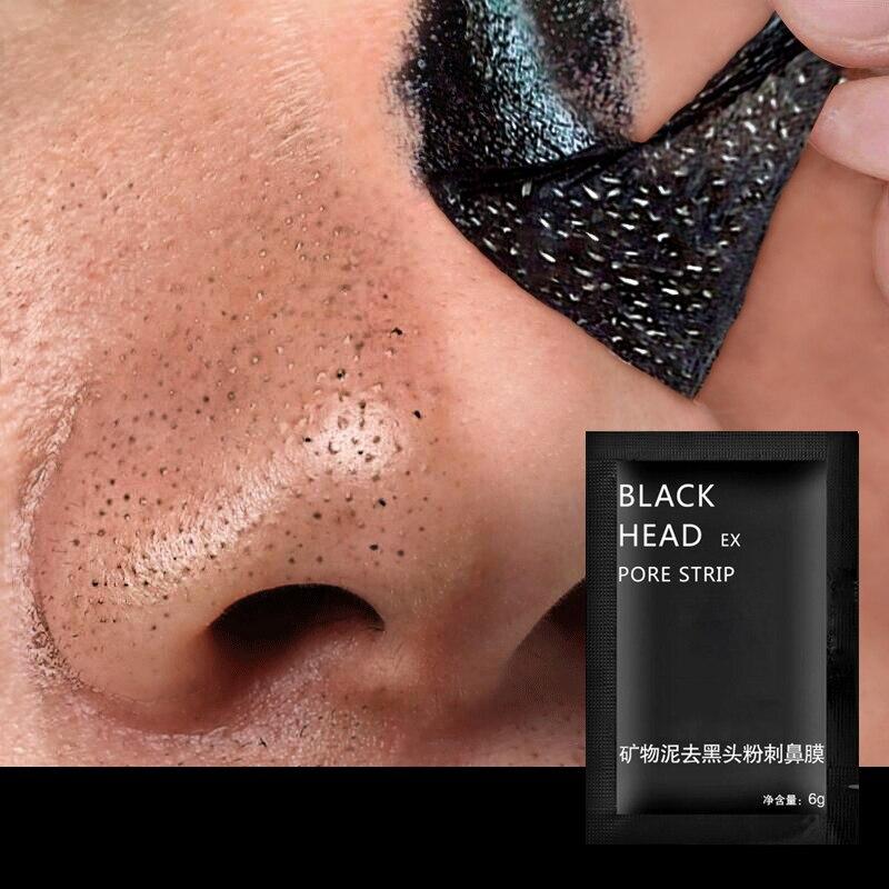 Mascarilla negra para eliminar puntos negros, banda para limpiar poros, mascarilla para puntos negros, tratamiento del acné