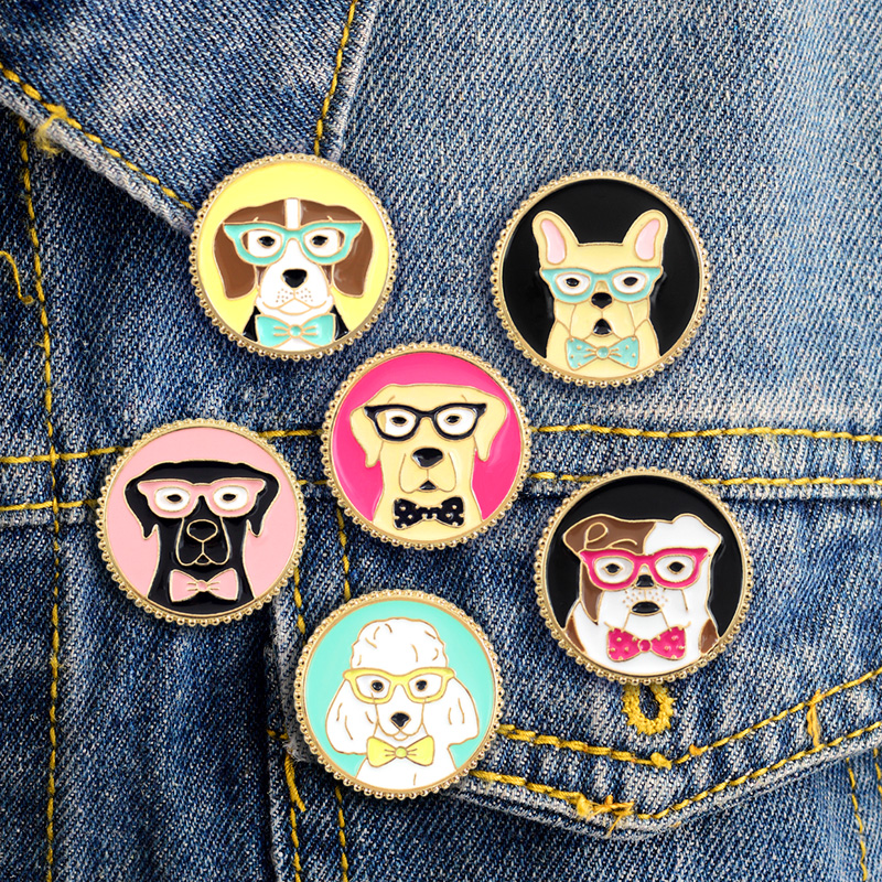 Apparel Sewing & Fabric Earnest 1 Pcs Cartoon Cute Animal Cat Rabbit Metal Brooch Button Pins Denim Jacket Pin Jewelry Decoration Badge For Clothes Lapel Pins