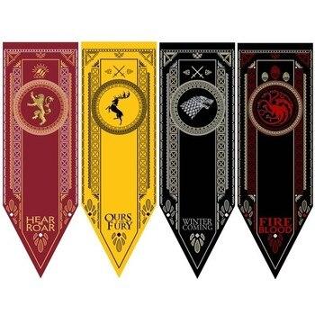 Ev dekor oyun Thrones afiş bayrağı evi Stark Tully Targaryen Lannister Baratheon Bolton var dekorasyon bayrakları