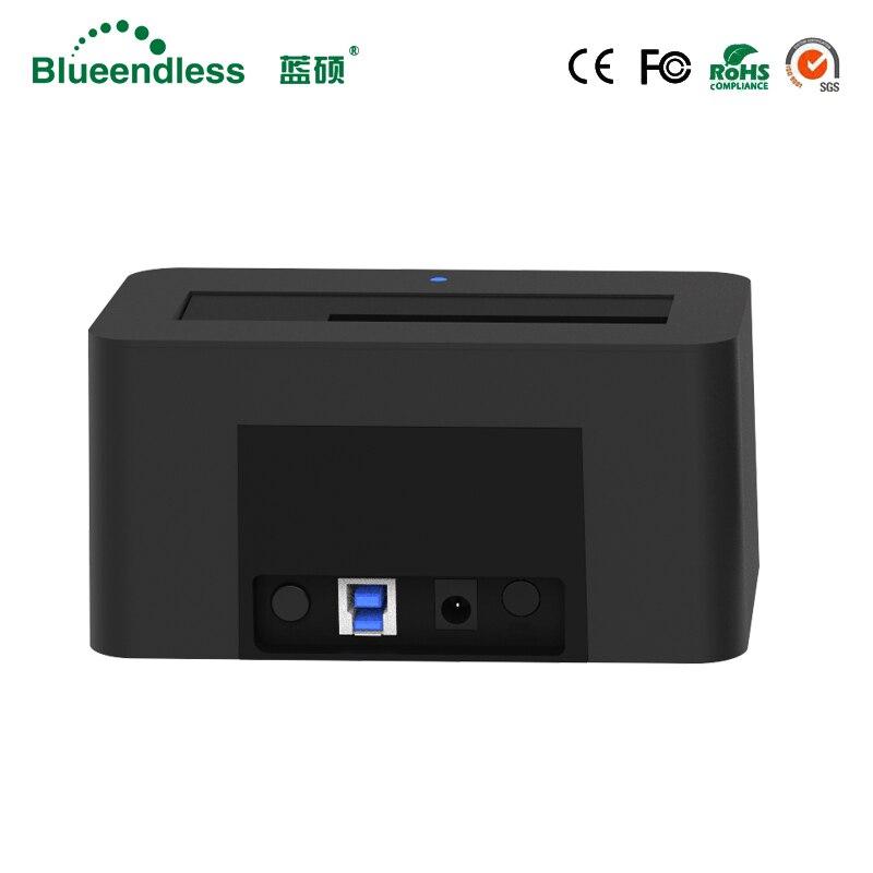 1-baie USB 3.0 à SATA3 jusqu'à 6 to Hdd Station d'accueil soutien 2.5 ''3.5'' pouces HDD avec 5 Gbps haute vitesse DC12V/2A alimentation - 5