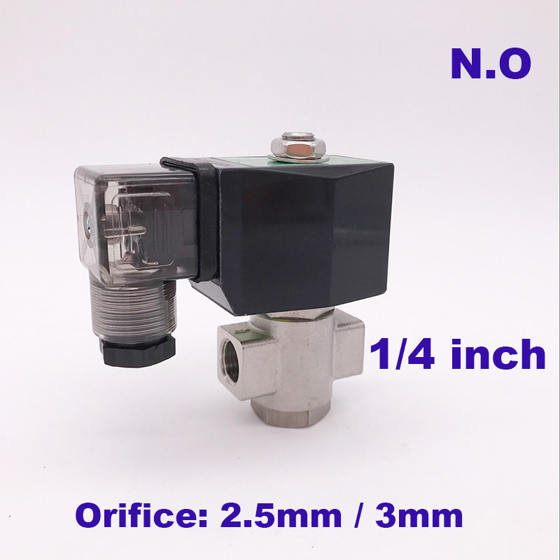 GOGO 2 Way Stainless Steel Water Normally Open Solenoid Valve Ss 1/4