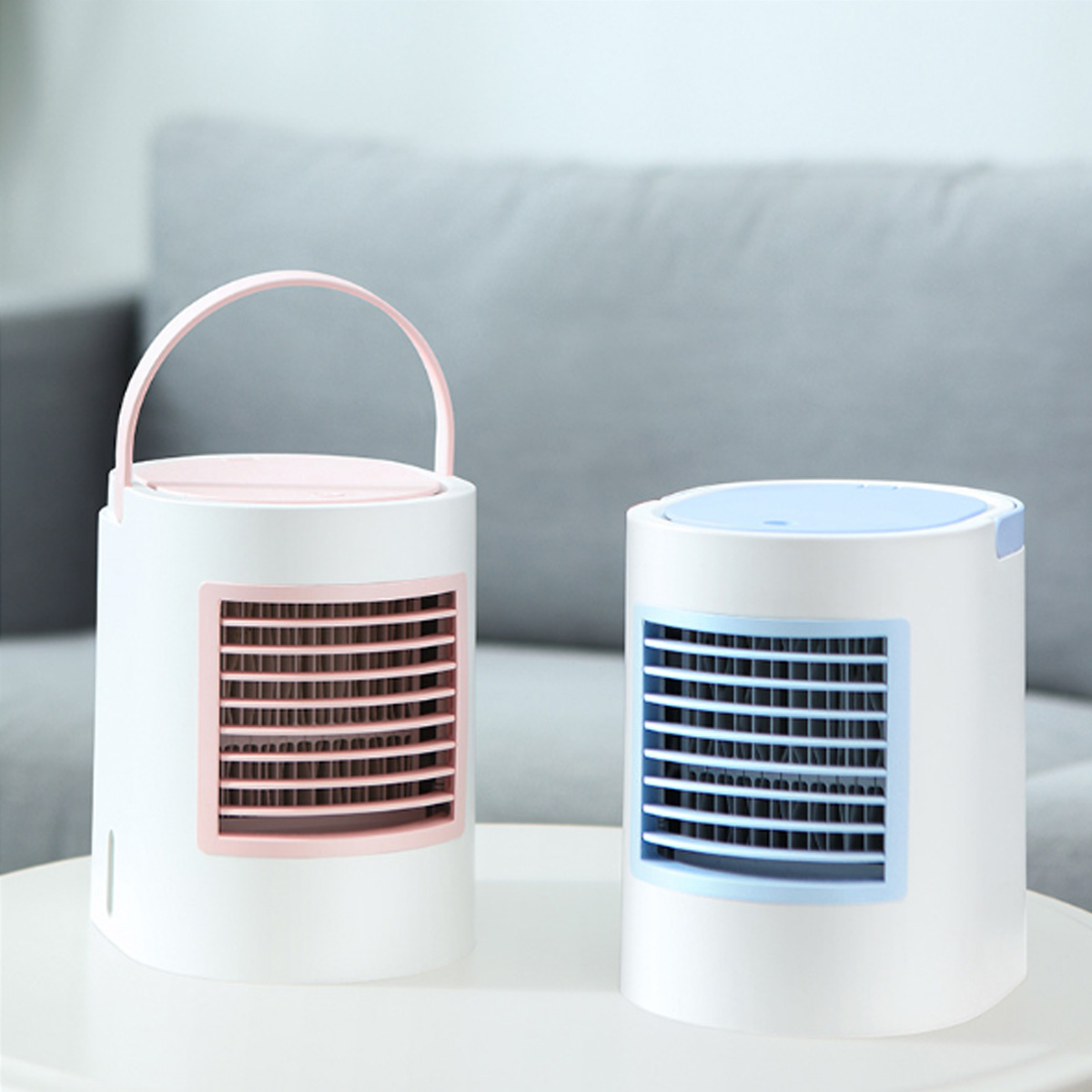 USB Mini Portable Air Conditioner Air Cooler Humidifier Purifier with LED Light Personal Space Fan Air Cooling FanUSB Mini Portable Air Conditioner Air Cooler Humidifier Purifier with LED Light Personal Space Fan Air Cooling Fan