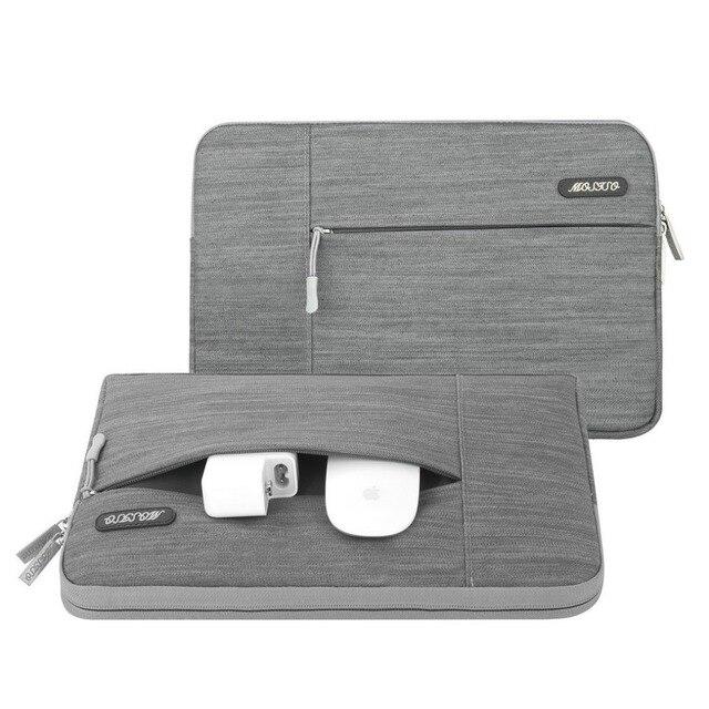 MOSISO gri dizüstü bilgisayar kol çantası Macbook hava 11 13 Pro Retina 13 15 inç için Lenovo/Dell/acer/HP/Xiaomi dizüstü bilgisayar çantaları