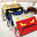6 color fashion personality monster demon eyes casual zip clutch handbags purse chain shoulder bag envelope bag messenger bag