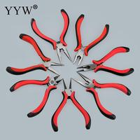 YYW Stainless Steel Making Tools Beading Pliers Bent Nose Cutter Round Wire Side Cutters Pliers DIY