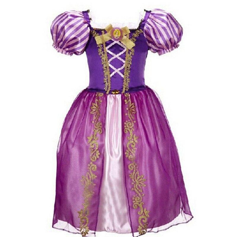 Новый Платье Золушки для маленьких девочек Детские платья Белоснежки и принцессы Праздничная детская одежда в стиле Рапунцель и Спящей красавицы для Хеллоуина