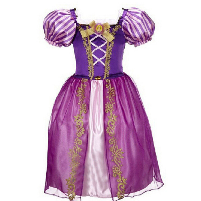 New Baby Girls Cinderella Dresses Children Snow White Princess Dresses  Rapunzel Aurora Kids Party Halloween Costume Clothes 927870ec9c97