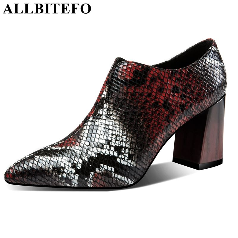 ALLBITEFO fashion cool genuine leather women shoes high heels shoes pointed toe sexy special mixed color spring ladies shoesALLBITEFO fashion cool genuine leather women shoes high heels shoes pointed toe sexy special mixed color spring ladies shoes