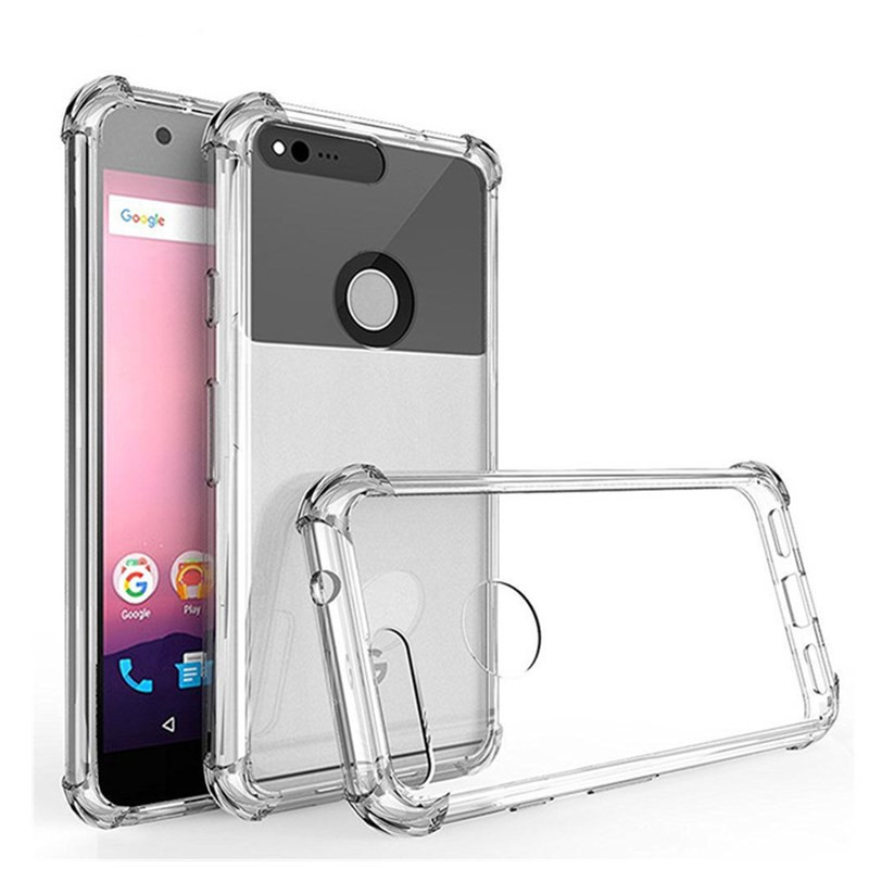 For Google Pixel 4 XL Silicon Clear TPU For Google Pixel 2 3 XL Case Four Angle Phone Cover for HTC U11 Life Eyes Desire 12 Plus in Fitted Cases from Cellphones Telecommunications