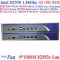 Intel D2550 4*82583 В LAN Сетевой Брандмауэр Маршрутизатор поддержка PFSense Panabit Wayos ROS Monowall Радиус привет-паук 1 Г ОЗУ 8 Г SSD