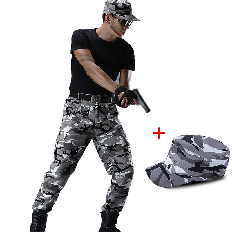Tactical Commando Trousers Men Cargo Pants Men's Military Pants Classic Army Style Pantolon Joggers Hunter Jungle Woodland Pants