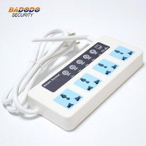 Image 5 - Interruptor de potencia inteligente con Control remoto, inalámbrico, SMS, GSM, caja de enchufe clavija para, controlador, relé de 4 canales con Sensor de temperatura