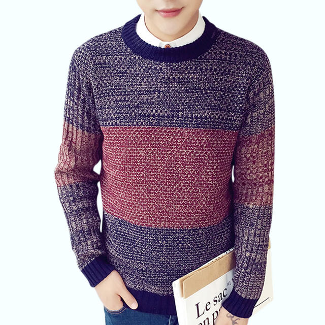 Men's Sweaters 2017 New Brand Men Wool Sweater Autumn Winter O-neck Warm Knitwear Pullover Christmas Sweater Men High Quality H
