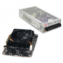 Kit combiné amplificateur Audio 2X100 W classe D w MW 24 V 200 W alimentation STA508