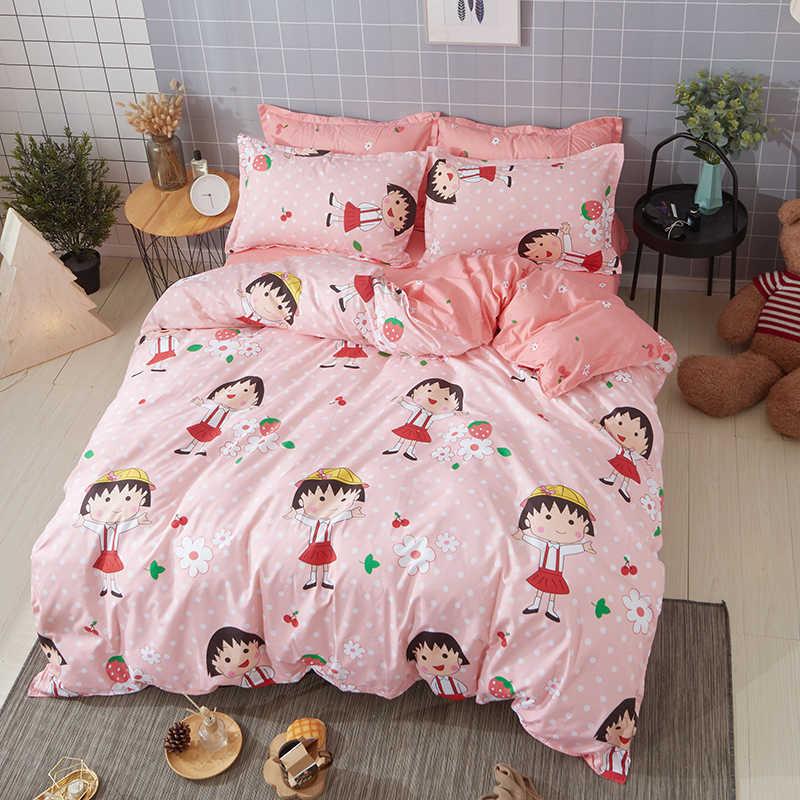 Japanese anime Cherry pellets Bedding Sets 4/3pcs duvet cover quilt cover Set bed sheet pillow cases comfortable bedclothes