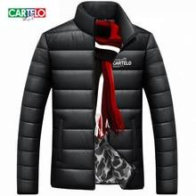 cartelo crocodile winter jacket men 2016 new parka coat brand new white duck down Fashion casual collar men warm Double Wear