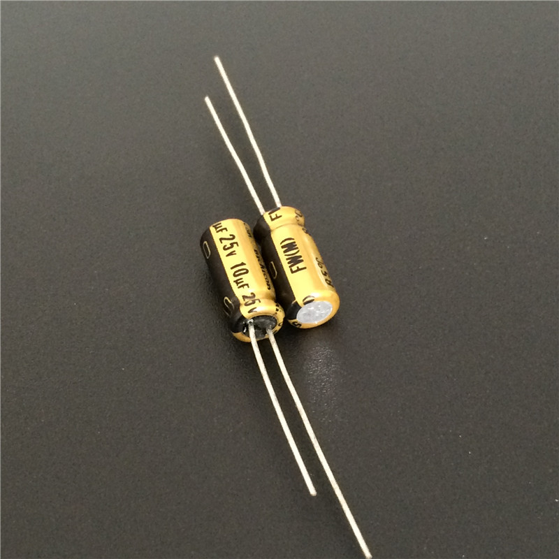 10pcs 10uF 25V NICHICON FW Series 5x11mm 25V10uF Audio Aluminum Electrolytic Capacitor
