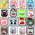 Baby Boys Bibs 3 Layers Terry Clothes Baby Girls Scarves Saliva Towels Cartoon Animal Infant Burp Cloths embroidered pinafore