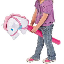 Детская палка лошади кататься на животных игрушки для детей на открытом воздухе игра в езду верхом игра голова лошади надувная игрушка лошадь