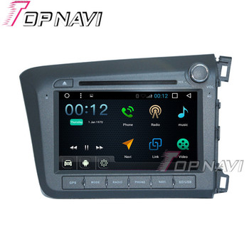 TOPNAVI 8 1024*600 Quad Core 16G Android 6.0 Car DVD Multimedia Player for Honda CIVIC 2012 Autoradio GPS Navigation Audio image