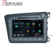 "Topnavi 8 ""1024*600 4 ядра 16 г Android 6.0 автомобиль dvd мультимедийный плеер для Honda Civic 2012 Авторадио GPS навигации аудио"