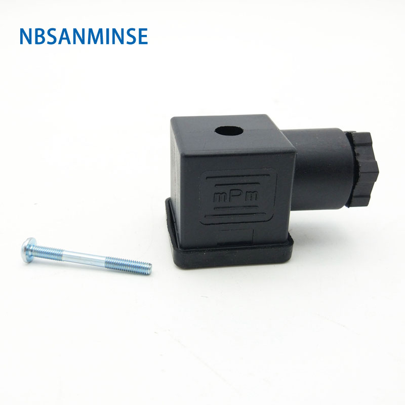 1pc Plug Solenoid Valve Connector DIN43650 A / B / C Solenoid Coil Connector For Valve Solenoid Coil Solenoid Connctors