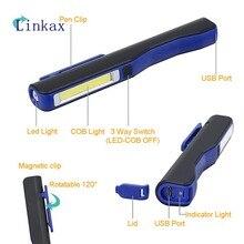 Sanyi Night Fishing Camping Portable COB LED Work Flashlight USB Charging Hand Torch Lamp Magnetic Hanging hot