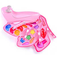 Safe Kids Make Up Toys Pretend Play Cosmetic Set Princess Girls Beauty Toys Kids Nail Polish Lipstick Kit Children's Gift