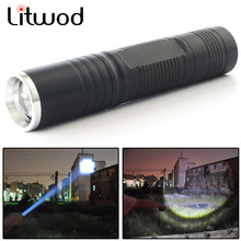 Litwod Z90S5 Mini penlight LED Flashlight Torch Q5 Chip 2300LM Waterproof 3 Modes Zoomable LED Power by AA battery For Camping(China)