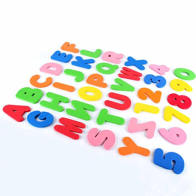 36 шт. (26 букв + 10 цифр) Детские пенопластовые буквы и цифры наклейки Водные наклейки игрушки Дети Плавающие для ванны игрушки для ванной