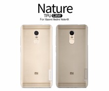 10pcs/lot Wholesale NILLKIN Ultra Thin Transparent Nature TPU Case For Redmi note 4 Indian version TPU Hard Soft Back Cover(China)
