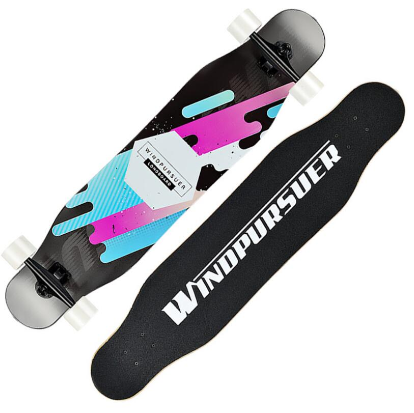 Image 2 - Professional Long board Dancing 107CM Highway Downhill Skateboard Freestyle Road Brush Street Skate Longboard-in Skate Board from Sports & Entertainment