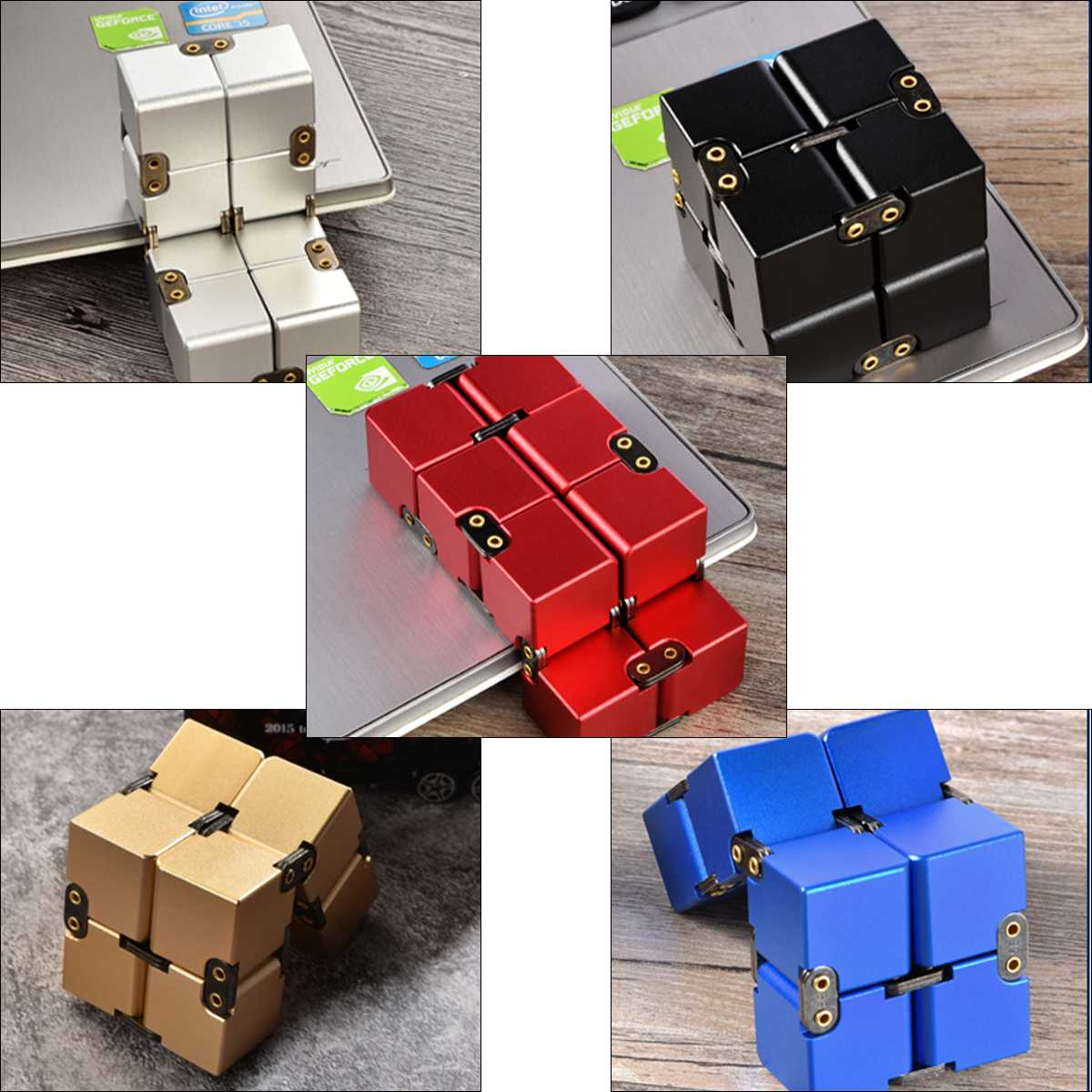 Hot Sale Stress ADHD Relief Cubes Adults Children Toy Gifts Portable Colors