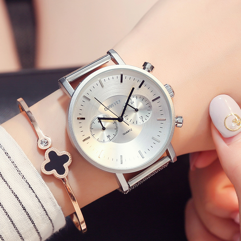 GIMTO New Sport Watch Women Bracelet Steel Big Dial Womens Watches Top Brand Ladies Wrist Watches For Women 2017 Female Clock longbo 2017 big promotion watches clock for men women gentl ladies stainless steel wristwatches with big face dial dropshipping