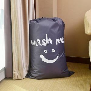 Image 3 - Organizator torba duża składana nylonowa torba na pranie brudne na ubrania torba z zamknięciem na sznurek do pralni domowej torba