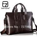 "teemzone Men's Genuine Leather Business Case Briefcase Portfolio Messenger Shoulder Tote Attache 14"" laptop Bag Trend T0755"