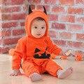 De Halloween ropa de bebé mamelucos para niños otoño invierno ropa del bebé del mono del muchacho de la muchacha conjunto menina roupas de bebe