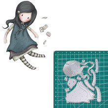 Happy card new 2019metal cutting dies doll girls for scrapbooking and making paper cards