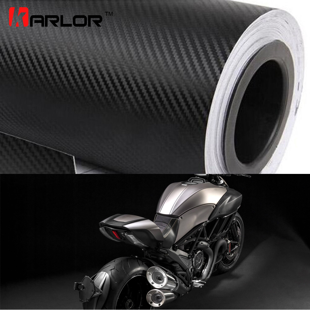 30x200cm Motorcycle 3D Carbon Fiber Vinyl Car Wrap Sheet Roll Film Stickers Decal Styling Auto Motorbike Motorcycle Accessories